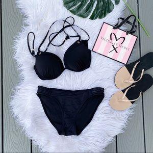 Black Push Up Bikini Set